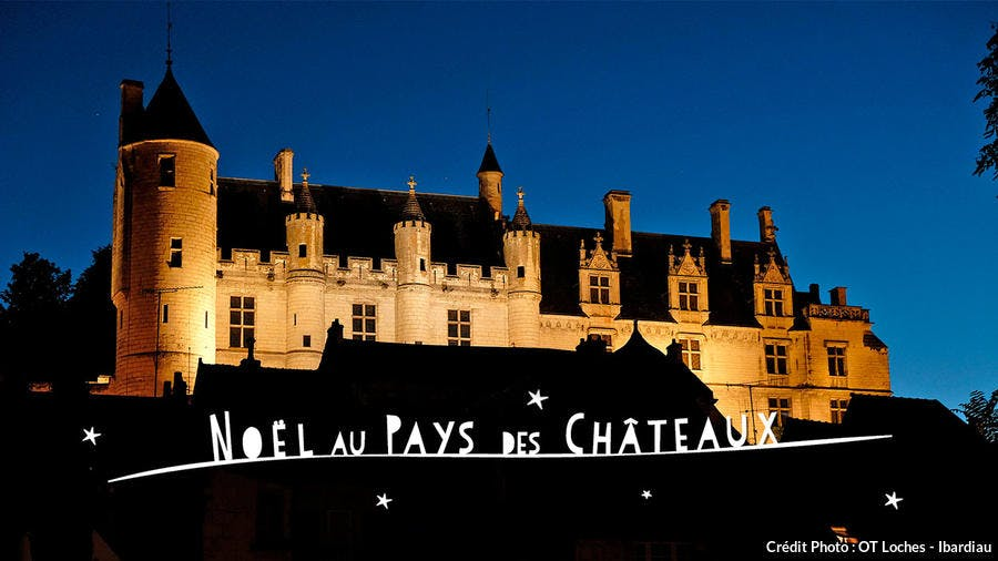 Château de Loches à Noël