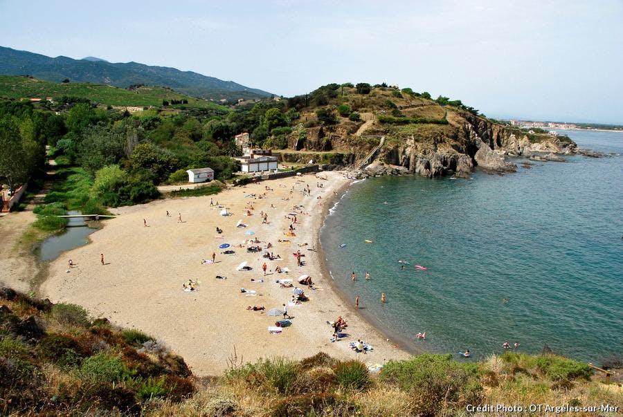 La plage de l'Ouille à Argelès-sur-Mer