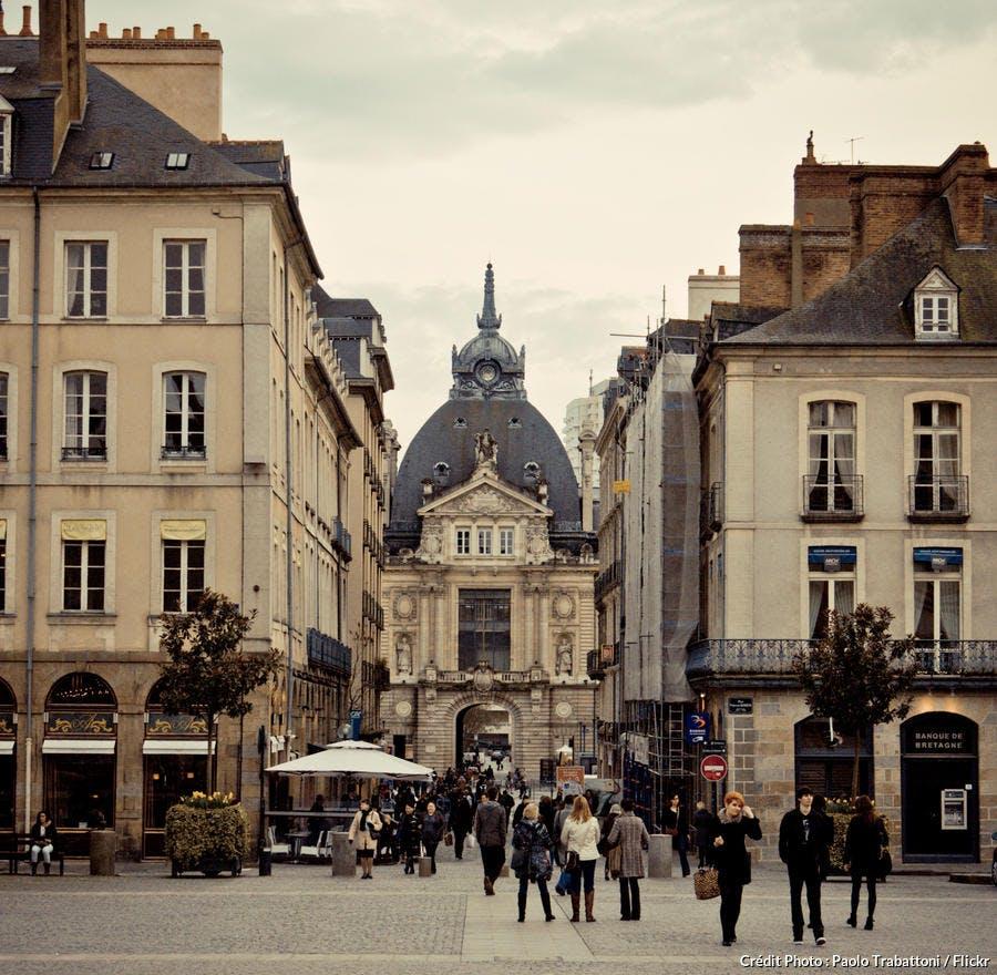 La place de la mairie à Rennes