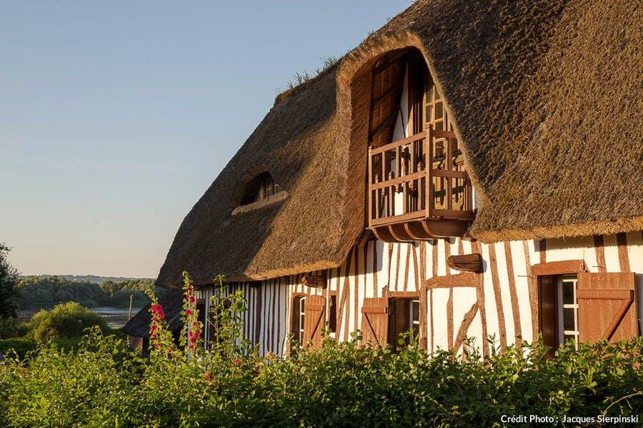 Maison normande sur la route des Chaumières, à Vieux-Port (Normandie)