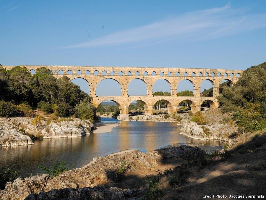 Le pont du Gard sur le Gardon
