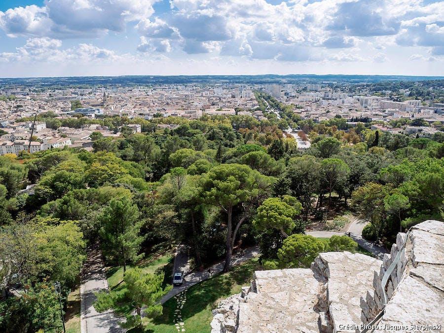 Vue de Nîmes depuis la tour Magne