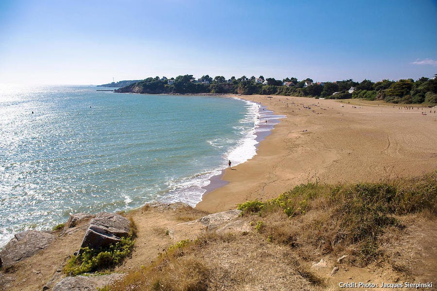La plage de l'Eve, à Saint-Nazaire (Loire-Atlantique)