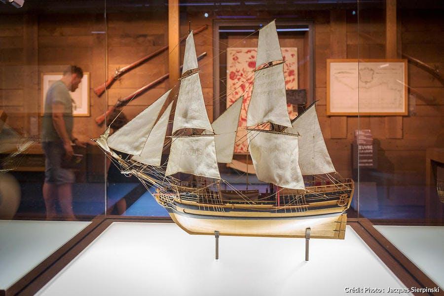 Maquette du navire négrier la Marie Séraphique exposée au musée d'Histoire de Nantes