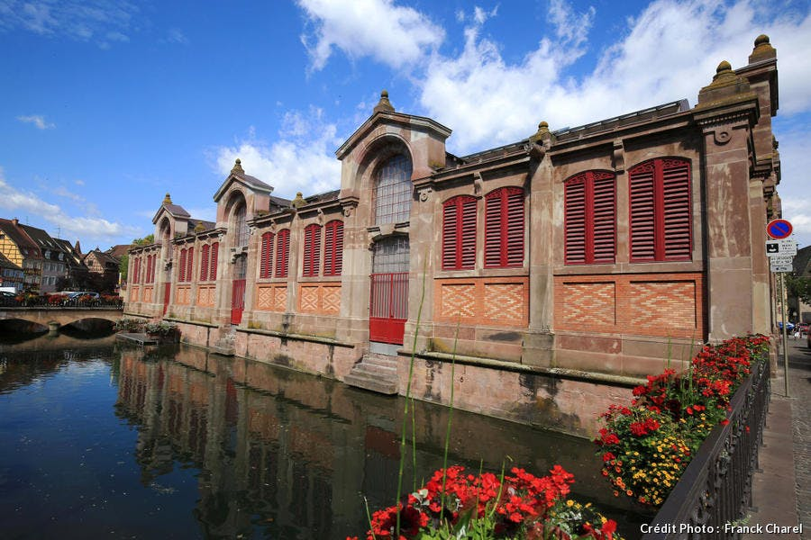 Le marché couvert de Colmar, en Alsace