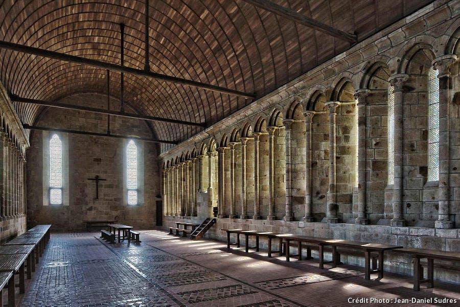 Réfectoire de l'abbaye du Mont-Saint-Michel