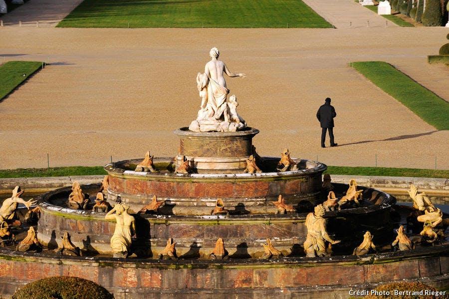La fontaine de Latone dans les jardins du château de Versailles