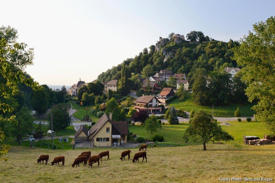 Le village de Ferrette, en Alsace
