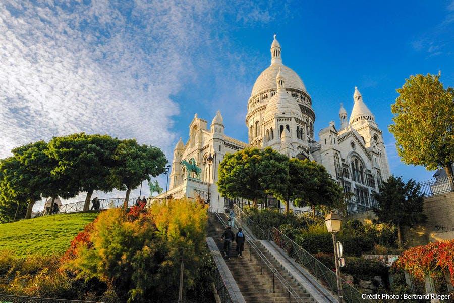 La basilique du Sacré-Coeur sur la butte Montmartre, à Paris