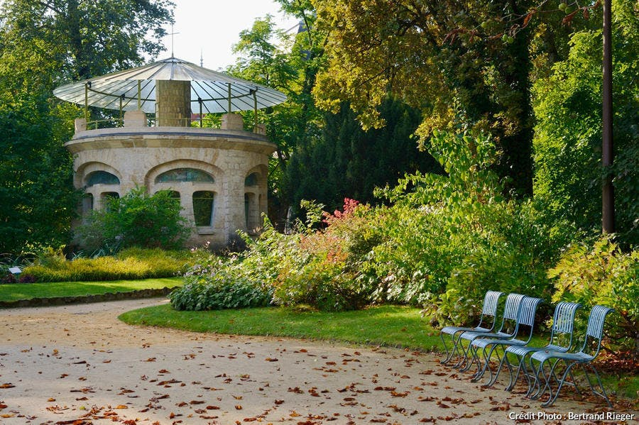 Jardin du musée de l'Ecole de Nancy (Lorraine)