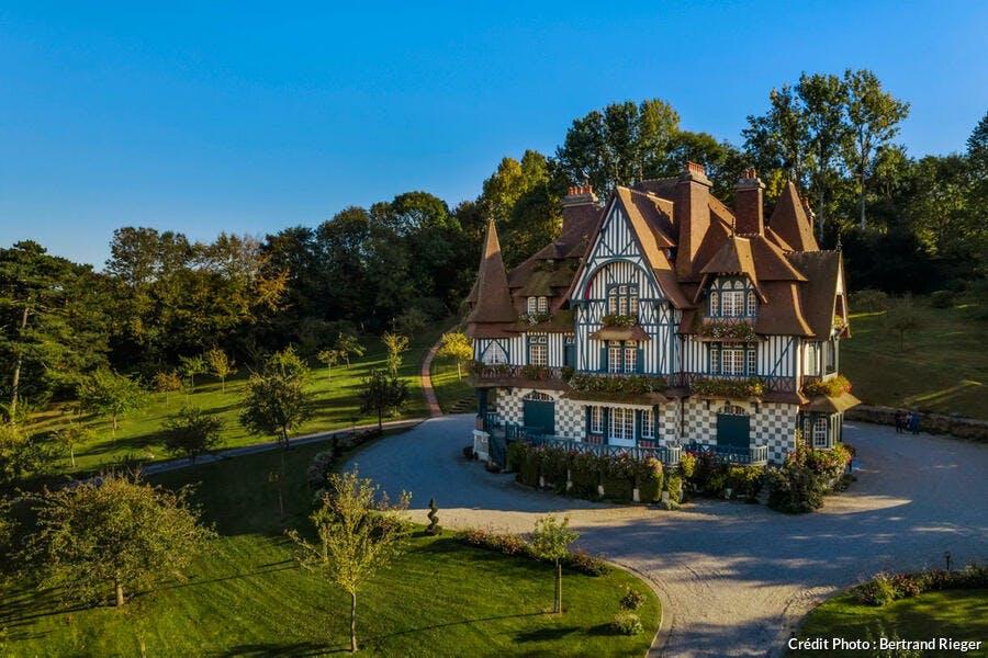 La villa Strassburger, à Deauville (Normandie)