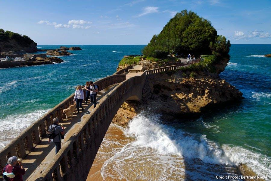 Le rocher du Basta, à Biarritz, au Pays Basque