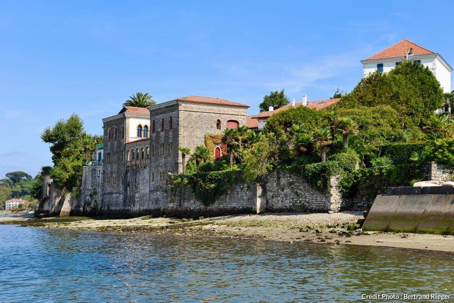 La villa mauresque, dans la baie d'Hendaye, au Pays Basque