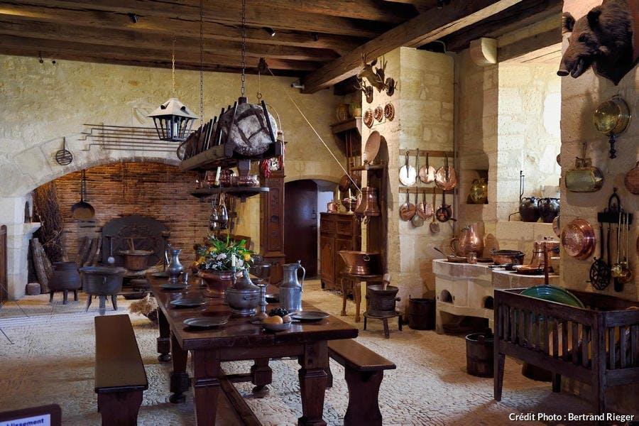 Cuisine du château de Fénelon, dans le Périgord noir