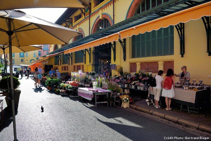 Les halles de Menton, sur la Côte d'Azur
