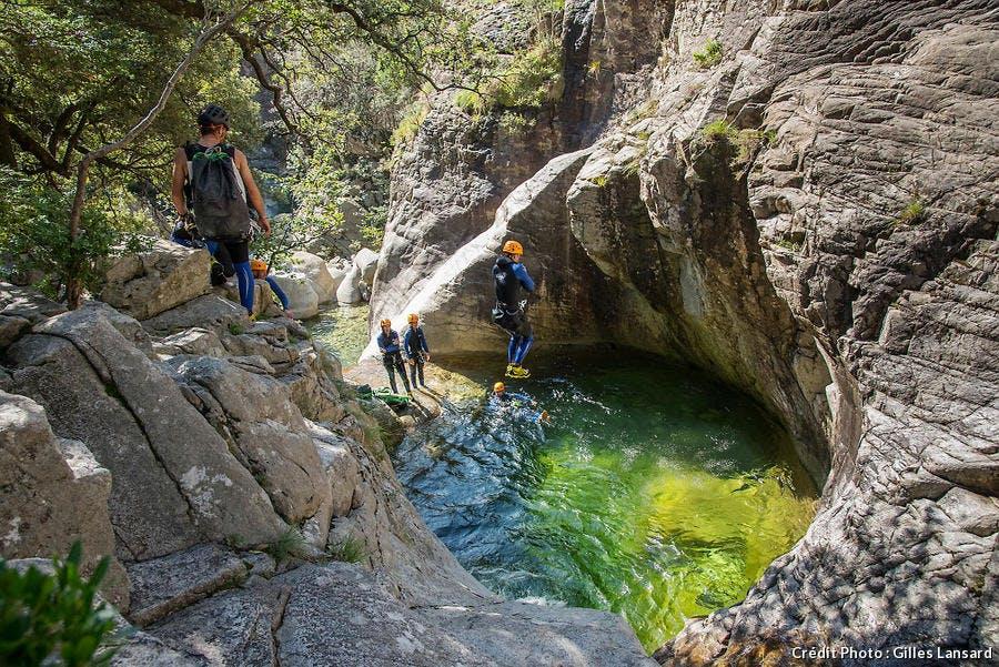 Canyon dans la vallée de Gravona