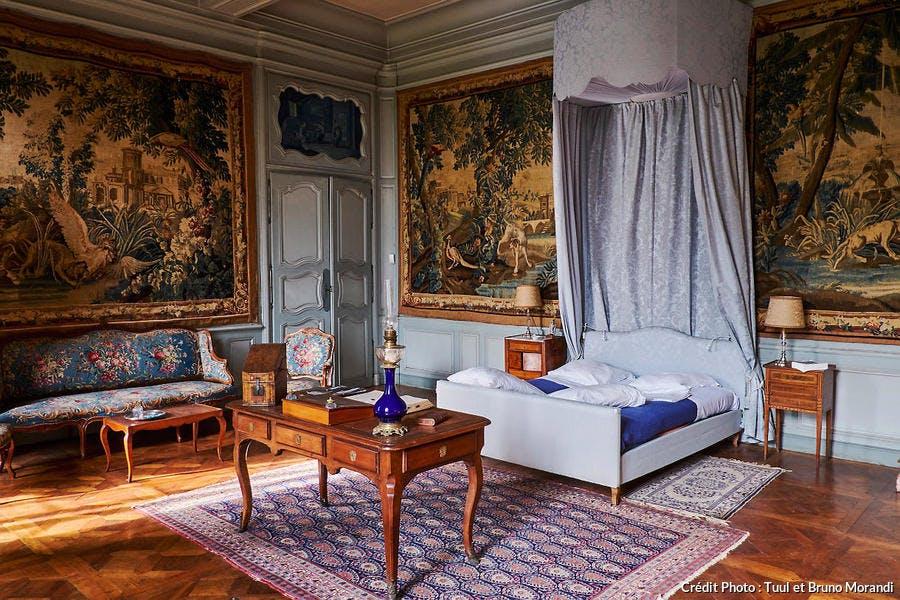 Chambre du château de l'abbaye de la Ferté