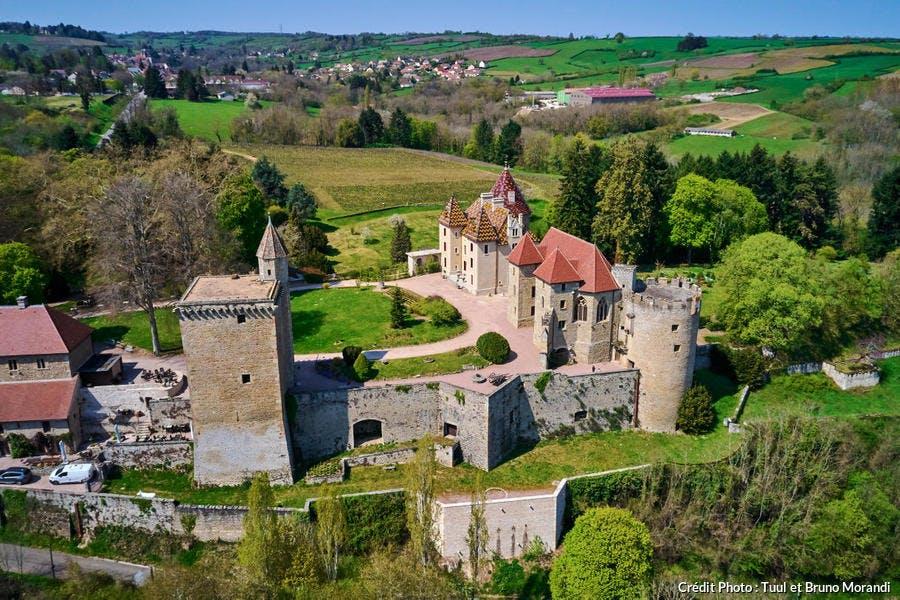 Château de Couches, vue aérienne