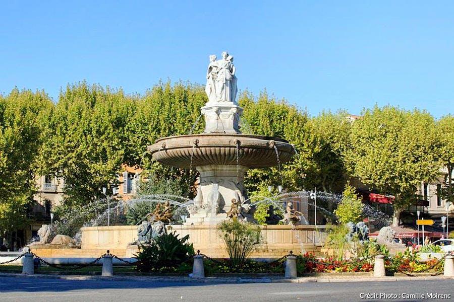 La fontaine de la Rotonde à Aix-en-Provence