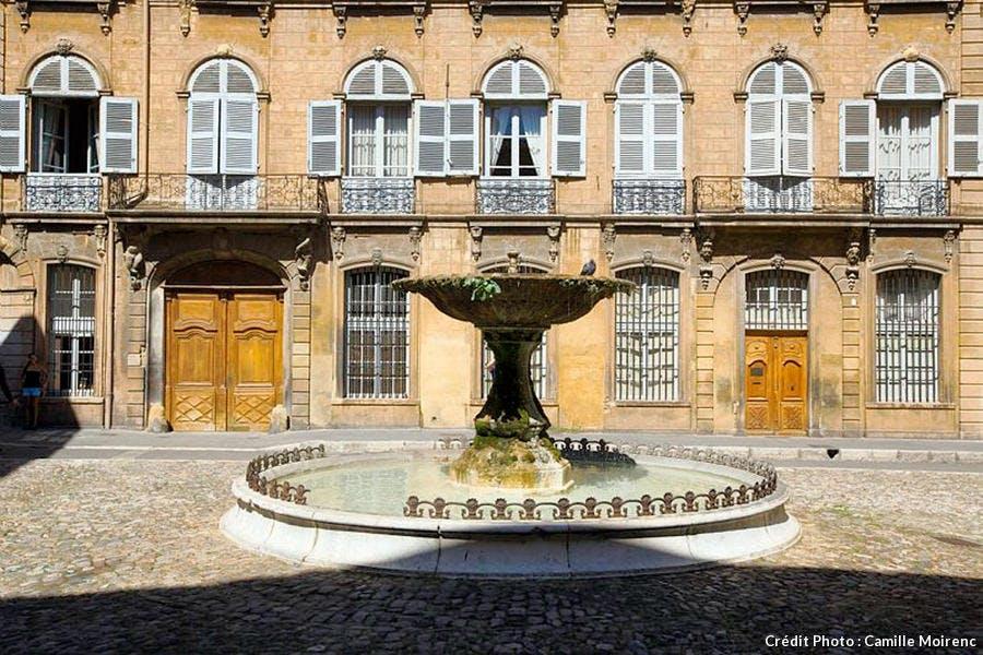 La fontaine d'Albertas à Aix-en-Provence