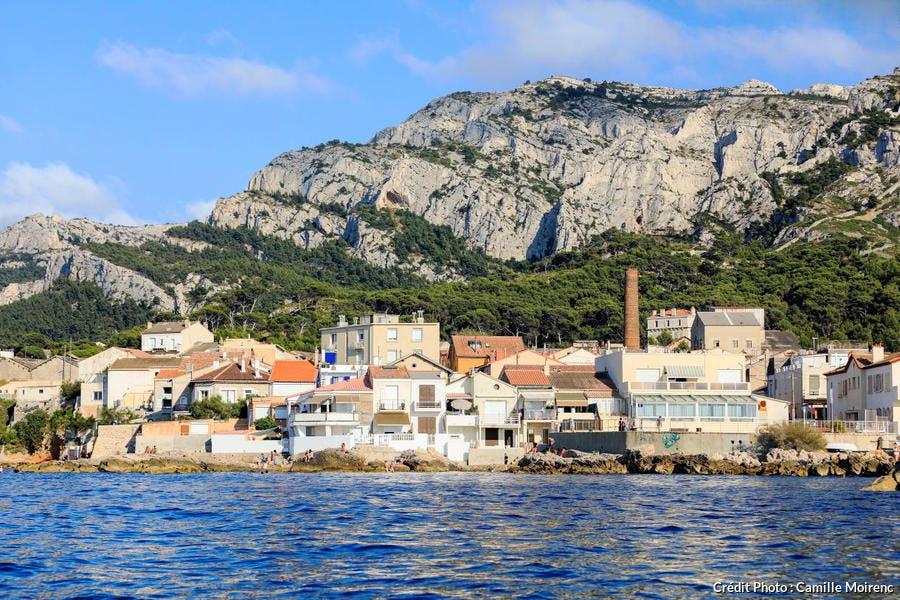 Le petit port de la Madrague à Marseille
