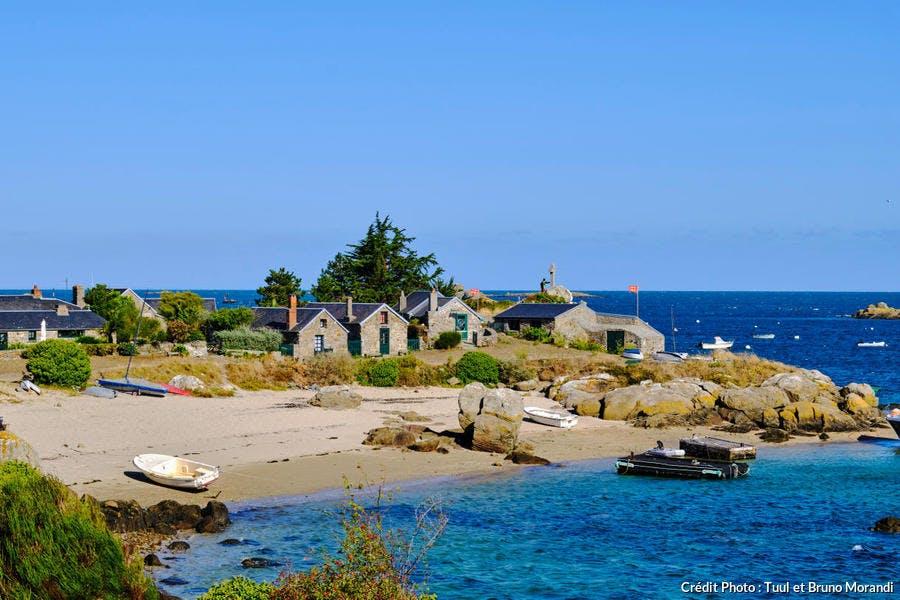 Village des Blainvillais, îles Chausey (Normandie)