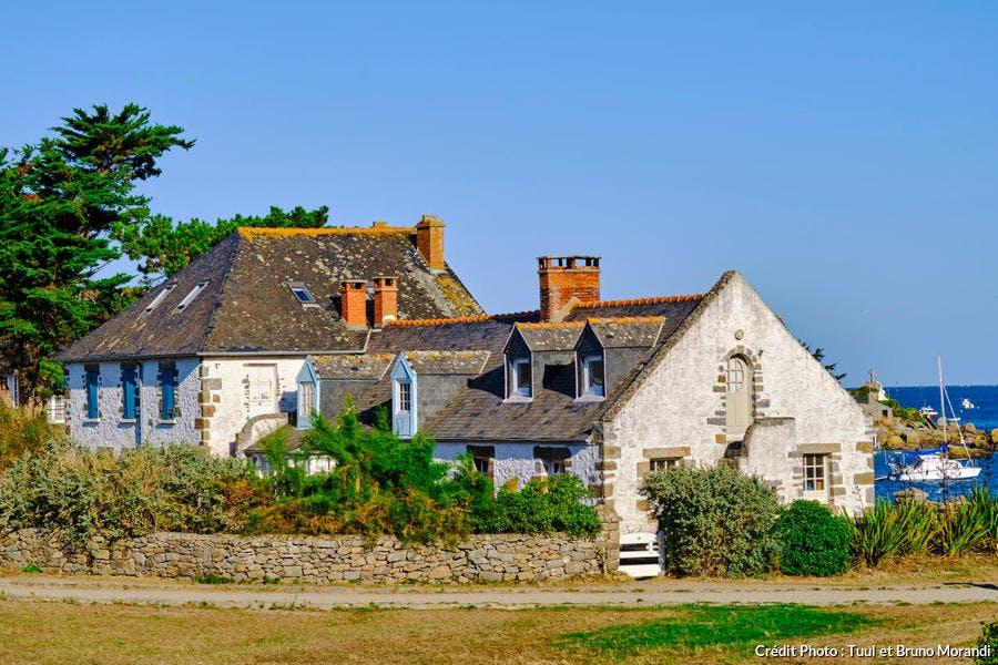 Maison du peintre Marin-Marie sur la Grande-Île, îles Chausey (Normandie)