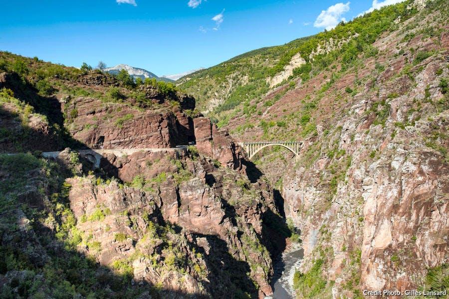 Les gorges de Daluis, dans le parc national du Mercantour (Alpes-Maritimes)