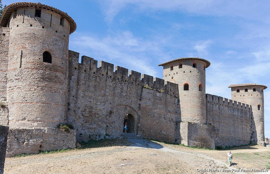 Carcassonne, tours gallo-romaines du IVe siècle (Aude)