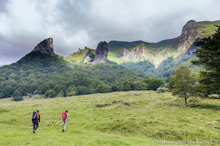 Chambon-sur-Lac, parc naturel régional des volcans d'Auvergne, massif du Sancy