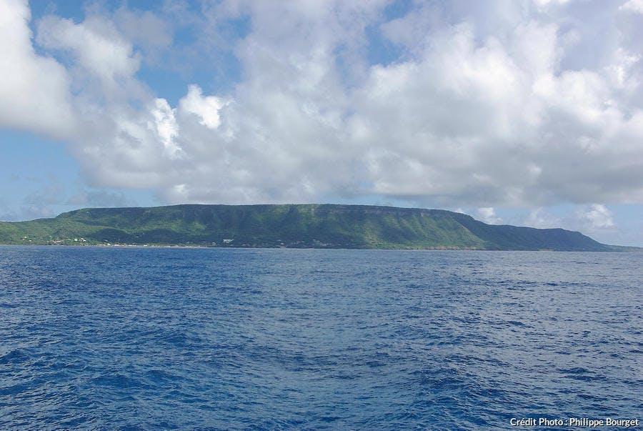 Vue générale de la Désirade, Guadeloupe