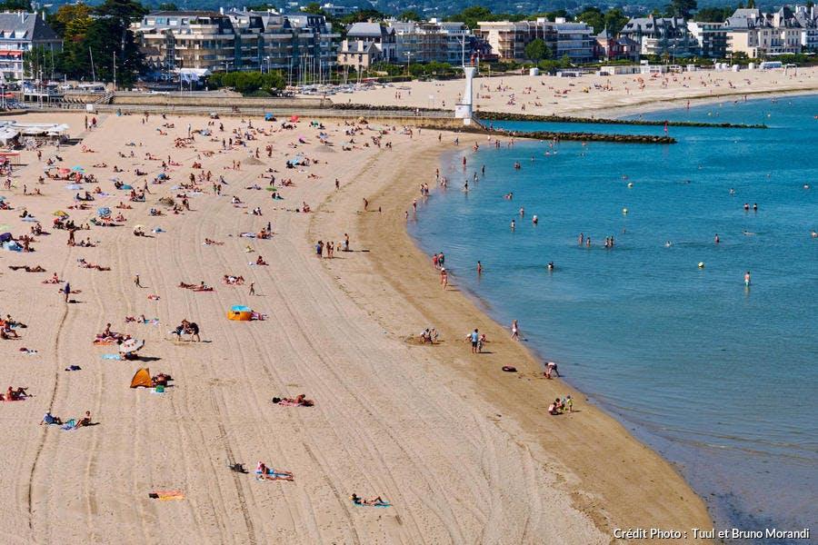 La plage du Pouliguen, en Loire-Atlantique
