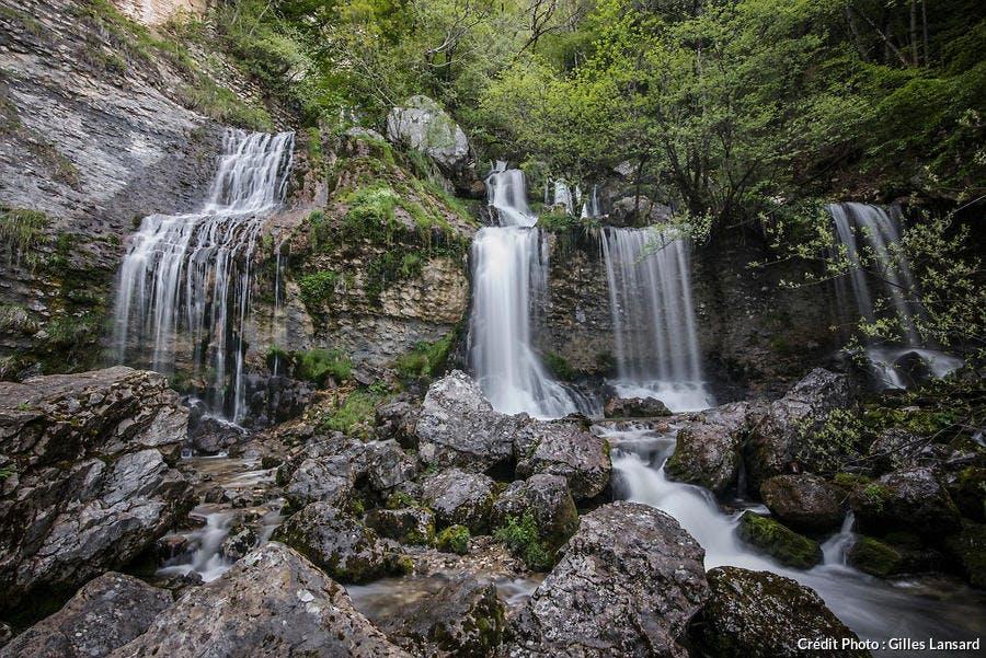 Les cascades de la Doria, dans le massif des Bauges (Savoie)