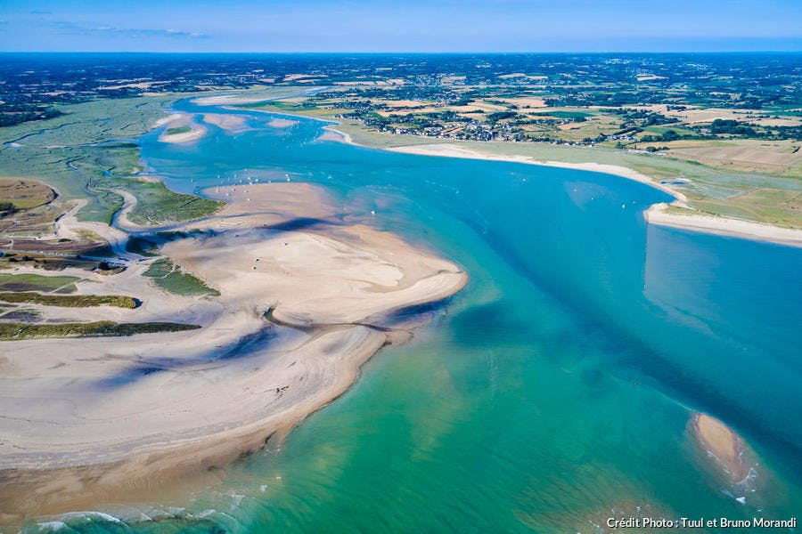 Regnéville-sur-Mer, havre de Regnéville (vue aérienne)