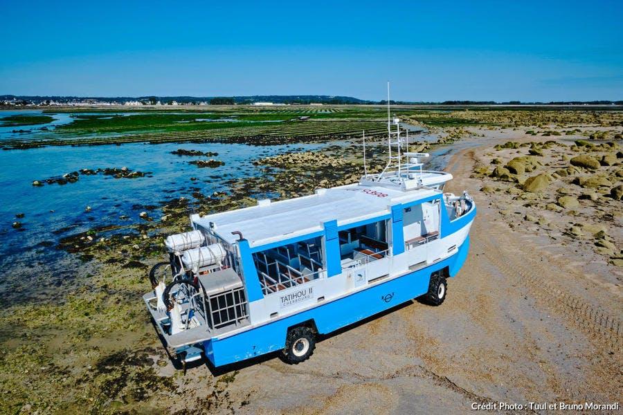 Engin amphibie pour aller sur l'île de Tatihou