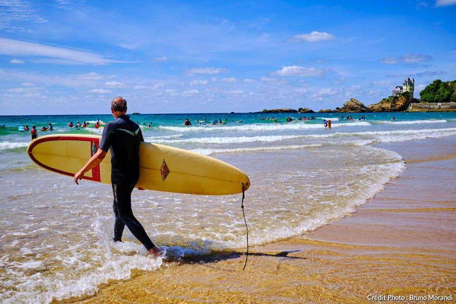 la plage d la Côte des Basques