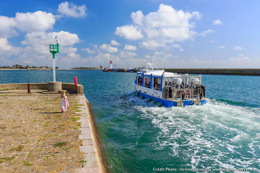 Départ en bateau vers l'île de Tatihou