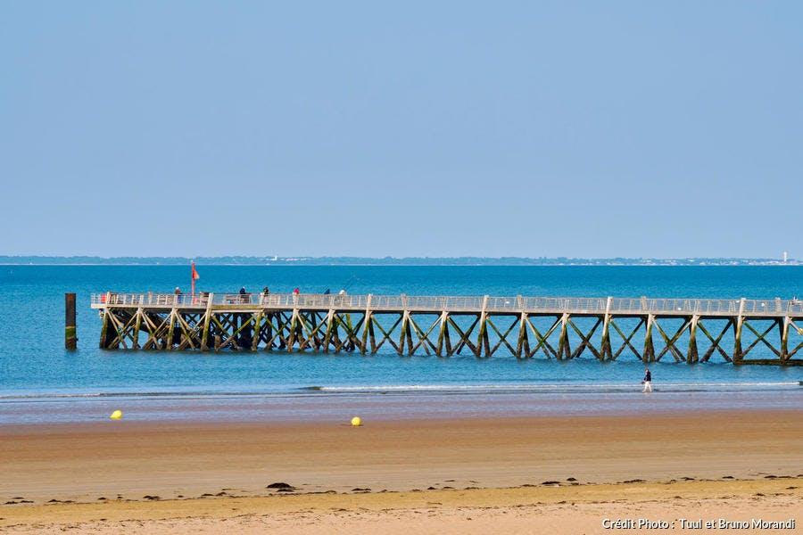 La plage de l'Estacade, à Saint-Jean-de-Monts (Vendée)
