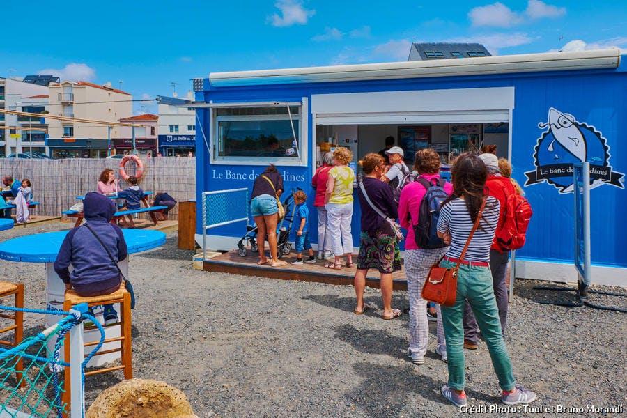 Saint-Gilles-Croix-de-Vie, food-truck Le Banc de Sardines (Vendée)