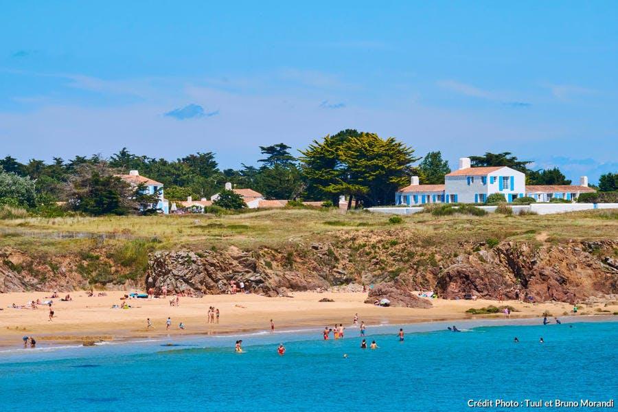 La plage des Vieilles, à l'île d'Yeu (Vendée)
