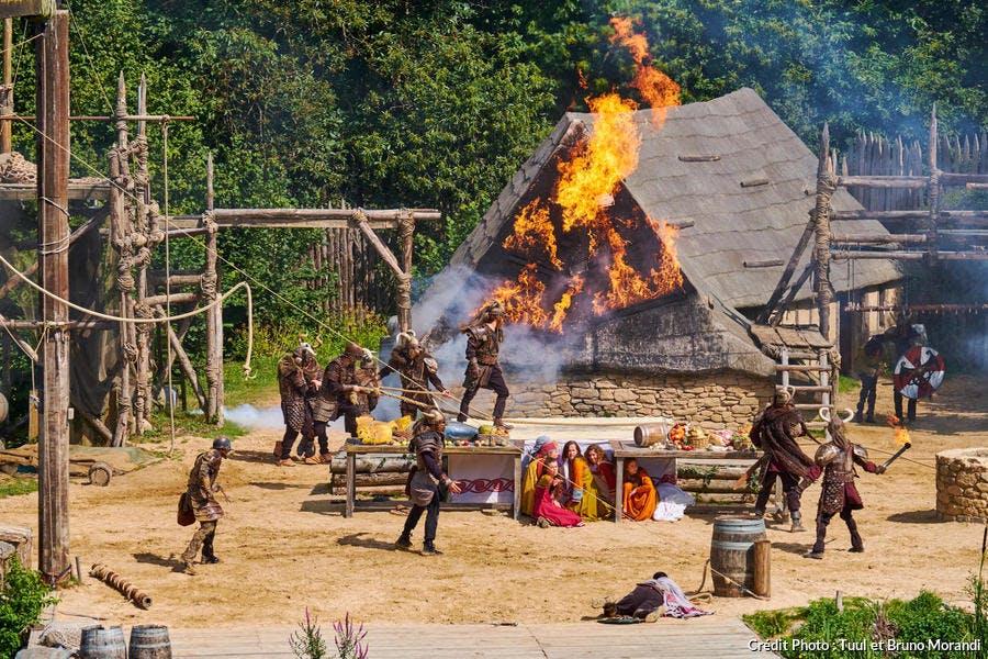 Parc du Puy du Fou, spectacle des Vikings (Vendée)