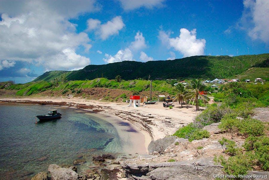 La plage de la Désirade, Guadeloupe