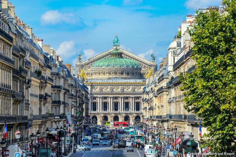 L'opéra Garnier, sur les Grands Boulevards, à Paris