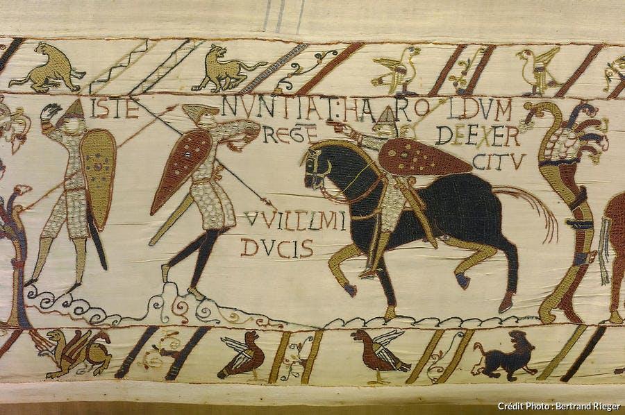 Zoom sur la tapisserie de Bayeux
