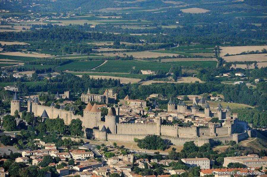 Carcassonne vu depuis le ciel