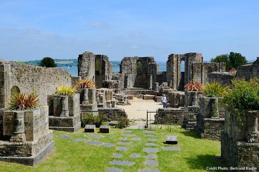 Les ruines de l'abbaye de Landevennec