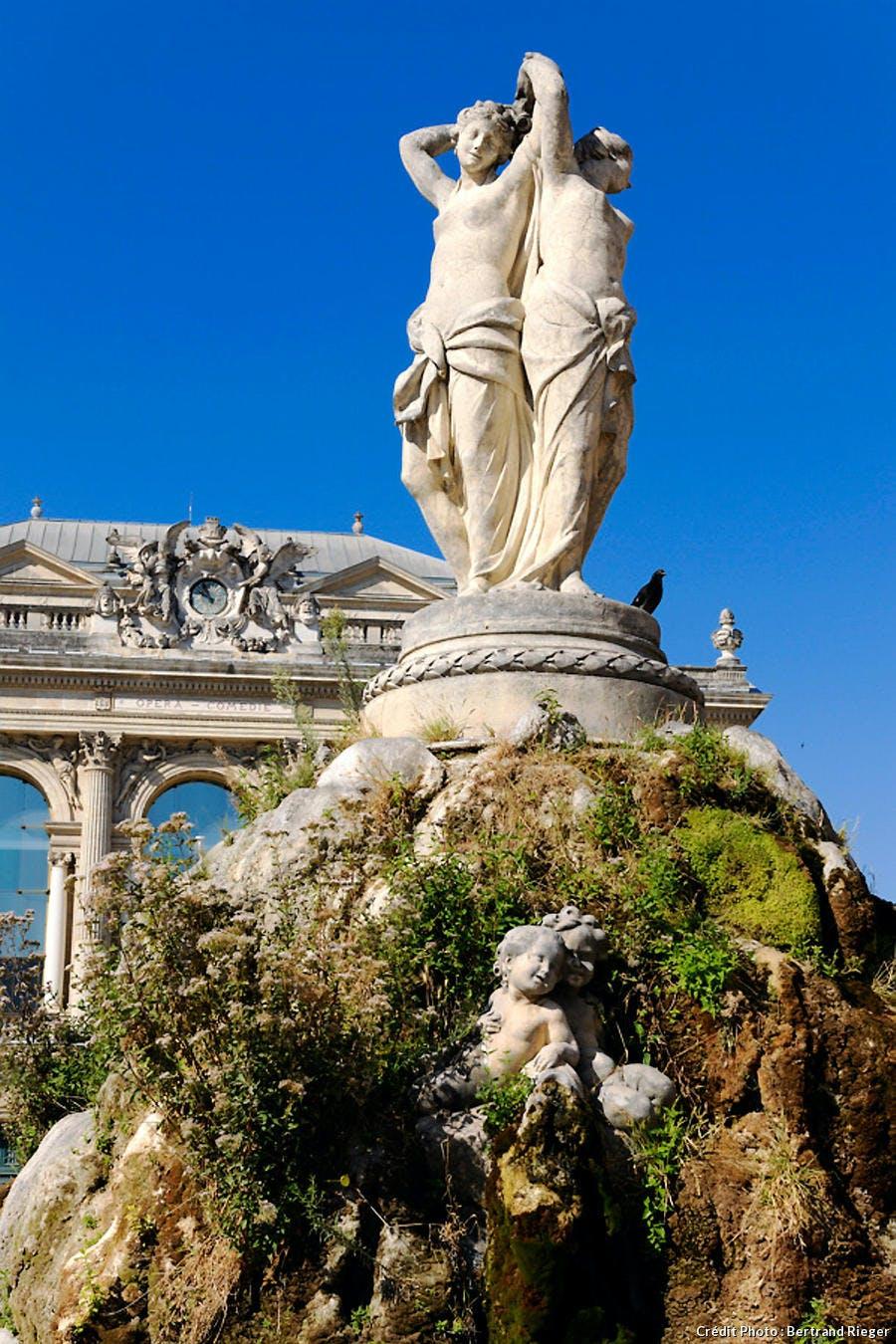La fontaine des trois Grâces à Montpellier