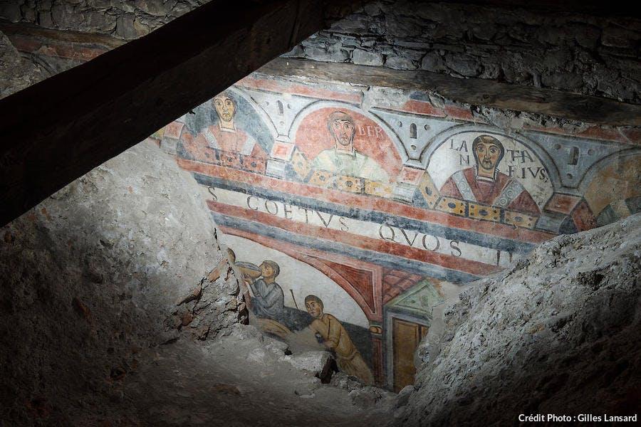 Fresques ottoniennes de Notre-Dame de l'Assomption à Aoste