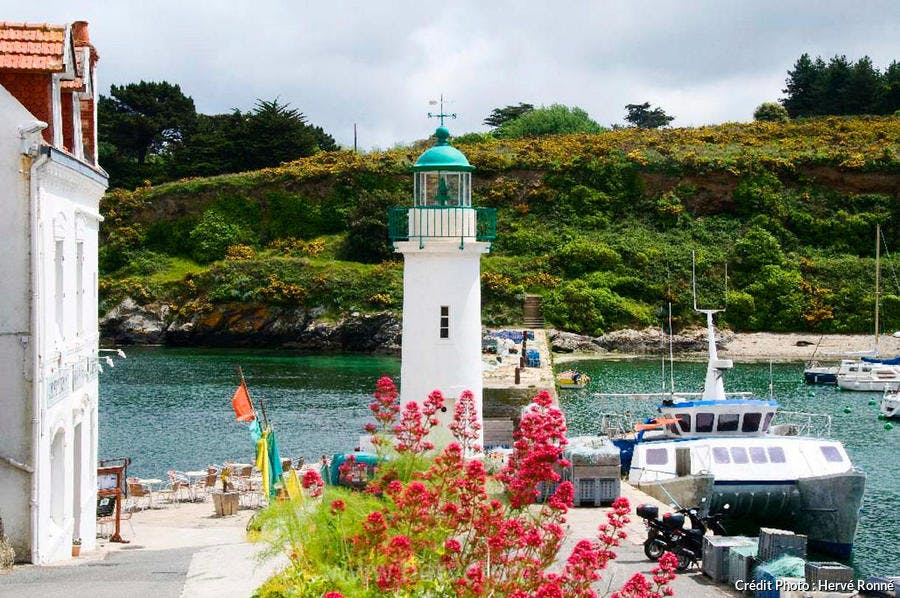 Le phare de Sauzon, à Belle-Île-en-Mer