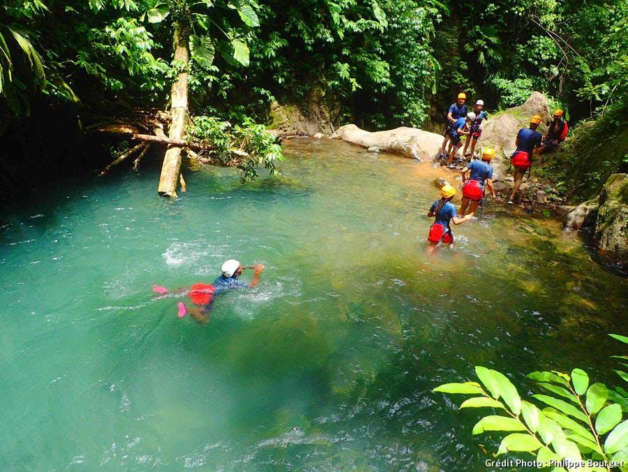 Canyoning sur les rivières de Basse-Terre, en Guadeloupe